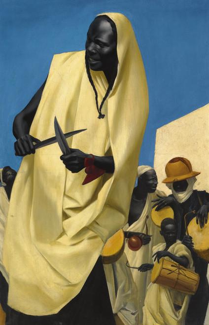 Art Prints of Kuli Kuta Dance, Niamey by Alexander Evgenievich Yakovlev