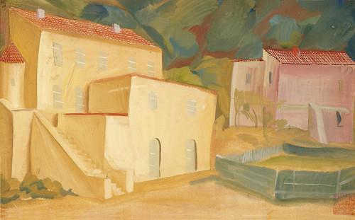 Art Prints of Landscape with Cottages by Alexander Evgenievich Yakovlev
