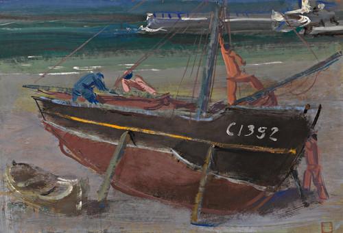 Art Prints of Moored Boat by Alexander Evgenievich Yakovlev
