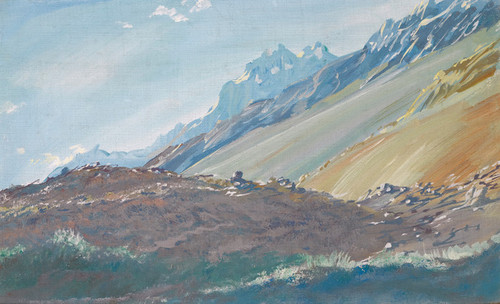 Art Prints of Foothills of the Karakoram Mountains by Alexander Evgenievich Yakovlev