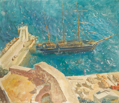 Art Prints of View of Port Calvi, France by Alexander Evgenievich Yakovlev