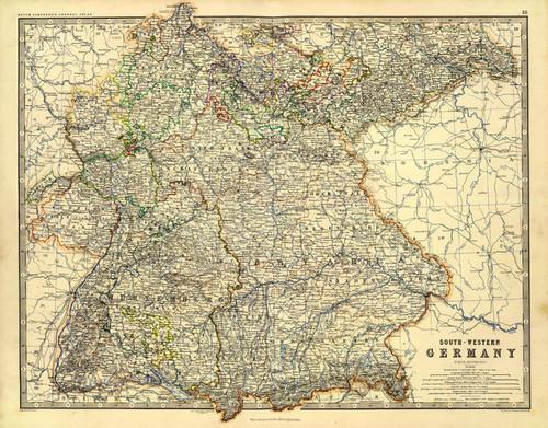 Art Prints of Germany Southwest (0373021) by Alexander Keith Johnston