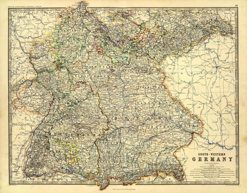 Art Prints of Germany Southwest (0373021) by Alexander Keith Johnston
