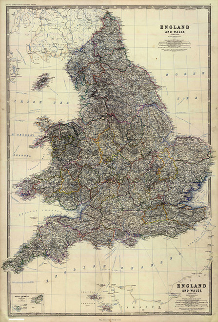 Art Prints of Composite of England and Wales (0373007) by Alexander Keith Johnston