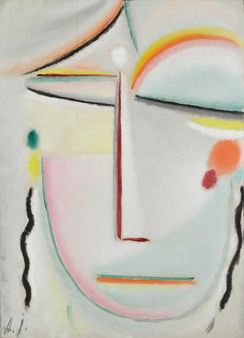 Art Prints of Abstract Head, Enlightenment by Alexej Von Jawlensky