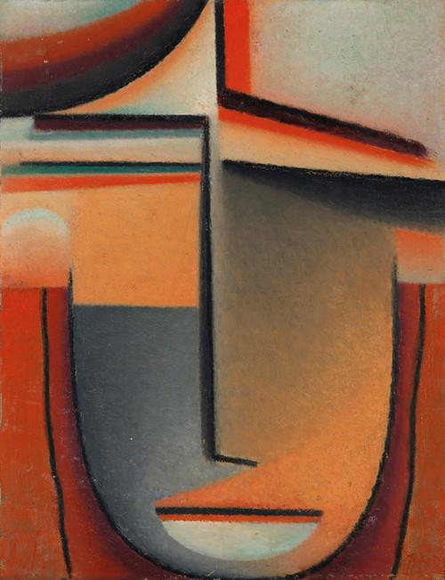 Art Prints of Abstract Head, Orange & Red by Alexej Von Jawlensky