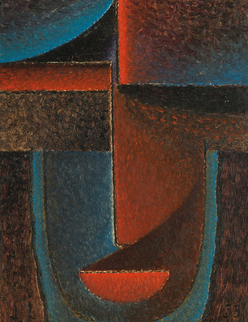 Art Prints of Abstract Head, Blue, Red by Alexej Von Jawlensky