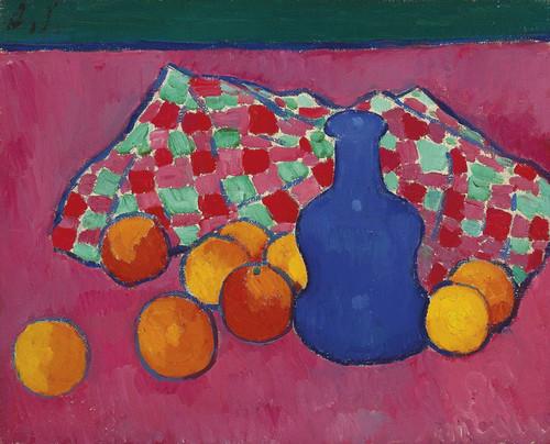 Art Prints of Blue Vase with Oranges by Alexej Von Jawlensky