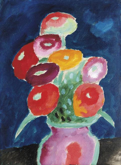 Art Prints of Flowers in a Vase, 1918 by Alexej Von Jawlensky