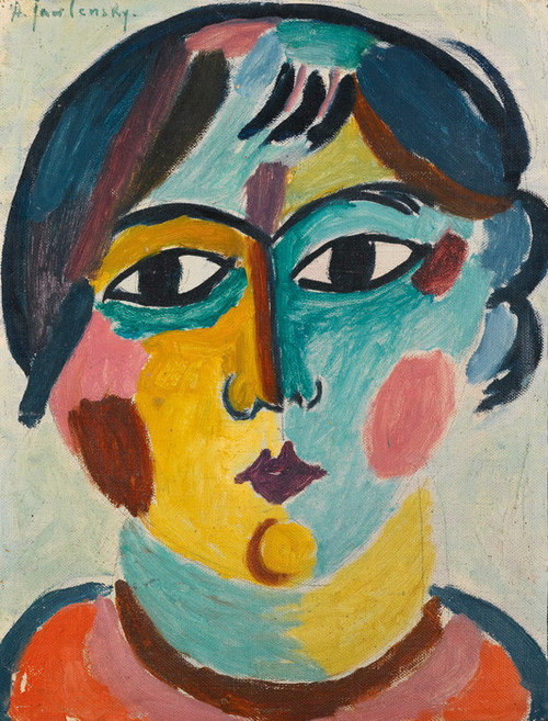 Art Prints of Head of a Girl by Alexej Von Jawlensky