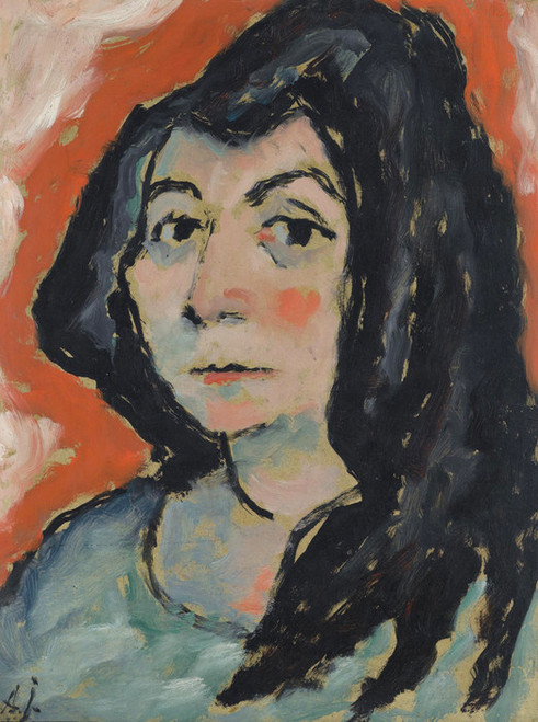 Art Prints of Helene with Her Hair Down by Alexej Von Jawlensky