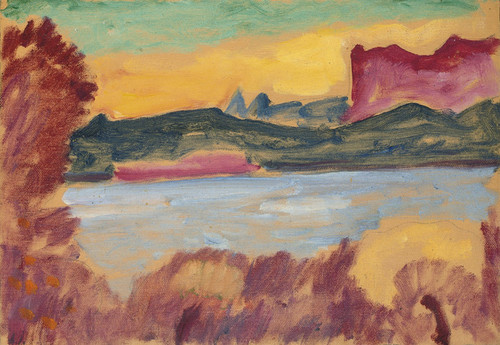 Art Prints of Landscape, Lake Geneva by Alexej Von Jawlensky