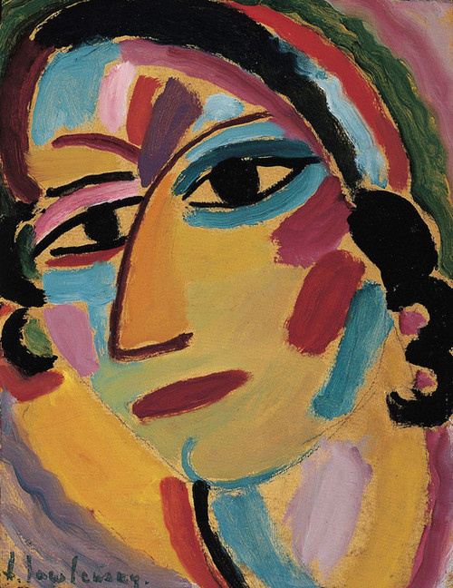 Art Prints of Mystical Head, Galka by Alexej Von Jawlensky