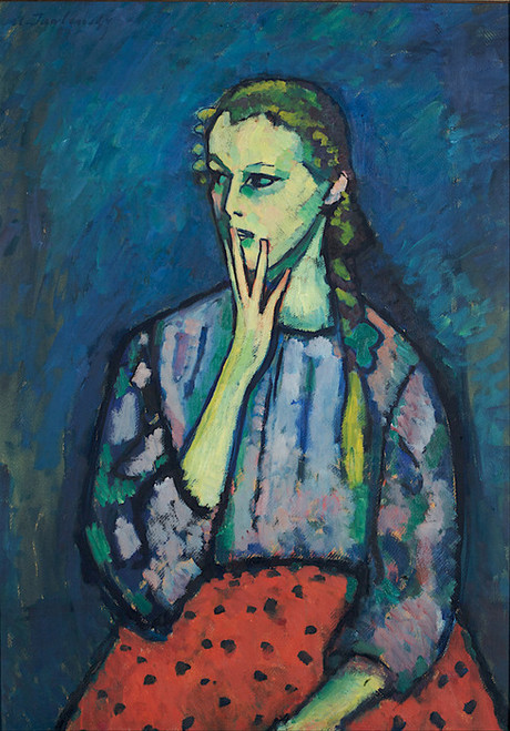 Art Prints of Portrait of a Girl by Alexej Von Jawlensky