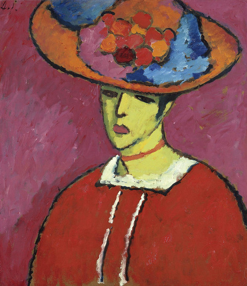 Art Prints of Schokko with Wide Brimmed Hat by Alexej Von Jawlensky