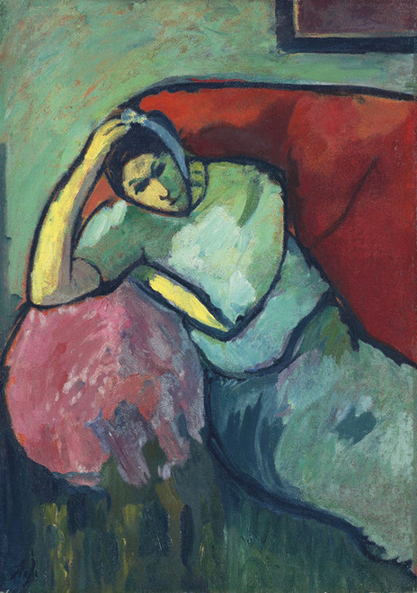 Art Prints of Seated Woman by Alexej Von Jawlensky