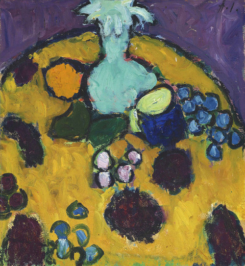 Art Prints of Still Life with Embroidered Blanket by Alexej Von Jawlensky