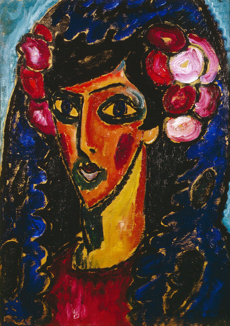 Art Prints of The Blue Matilla by Alexej Von Jawlensky