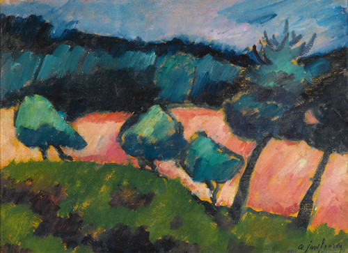 Art Prints of Trees and Dunes in Prerow by Alexej Von Jawlensky