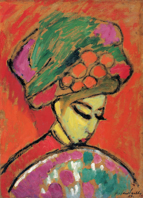 Art Prints of Young Girl with a Flowered Hat, 1910 by Alexej Von Jawlensky