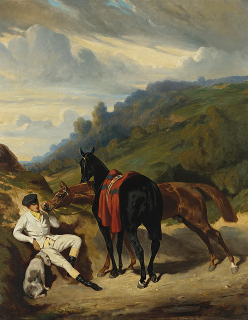 Art Prints of A Rest in the Mountains by Alfred de Dreux