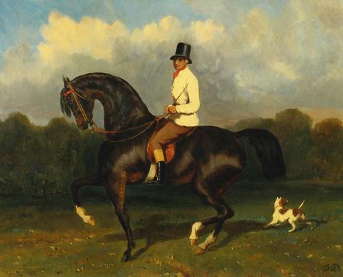 Art Prints of Cavalier Caracolant by Alfred de Dreux