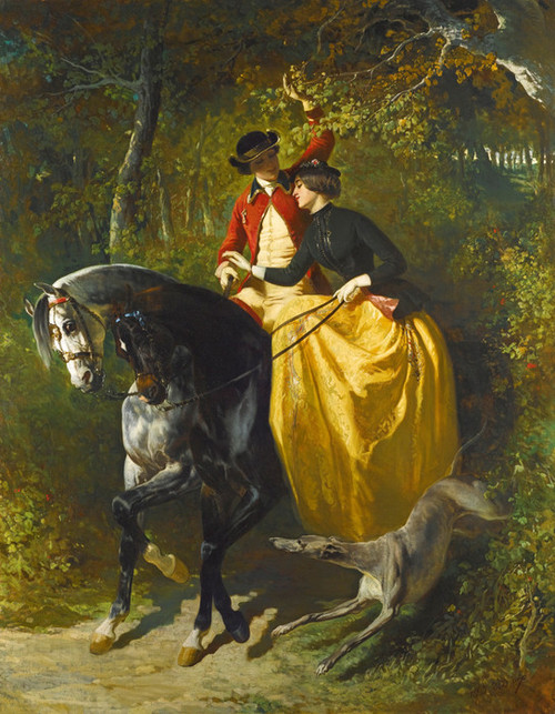 Art Prints of Entrance to the Woods by Alfred de Dreux