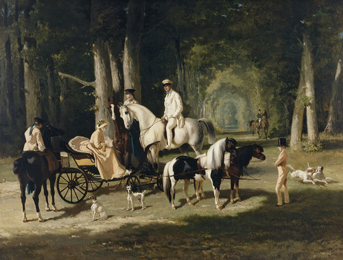 Art Prints of Mr. and Mrs. Mosselman and Their Two Daughters by Alfred de Dreux