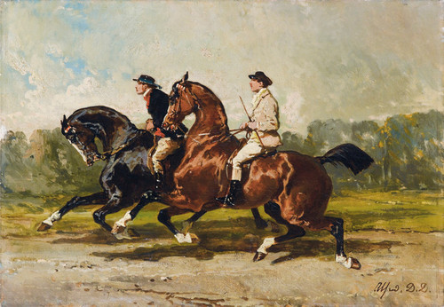 Art Prints of Two Lads in Training by Alfred de Dreux