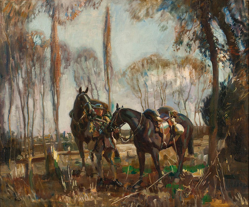 Art Prints of A Patrol in France by Alfred James Munnings