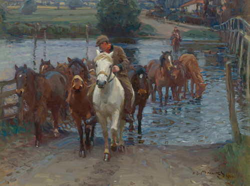 Art Prints of Crossing the Ford II by Alfred James Munnings