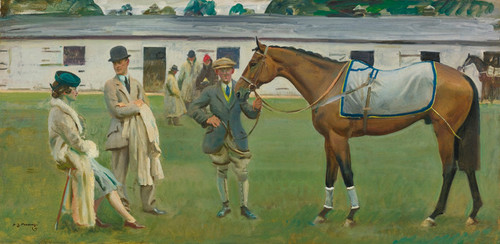 Art Prints of Kempton Park Stables by Alfred James Munnings