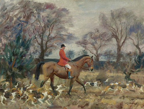 Art Prints of In the Woods at Belvoir Castle by Alfred James Munnings