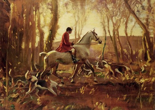Art Prints of Ned Osbert on Grey Tick by Alfred James Munnings