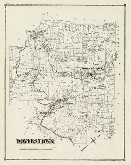 Doylestown, 1876, Bucks County Vintage Map | Fine Art Print on bucks montgomery map, buckingham map, pennsylvania map, monroe county, mercer county, levittown map, bucks pennsylvania, illinois community college district map, allegheny county, pa map, philadelphia map, northampton community college map, indiana county, worcester map, telford map, lehigh county, york county, cumberland county, montgomery county, chester county, berks county, bucks water map, lancaster county, bucks township map, new hope, bucks lake map, delaware county, quakertown map, central bucks school district map, new castle map, bucks co pa, philadelphia county, pennsylvania,