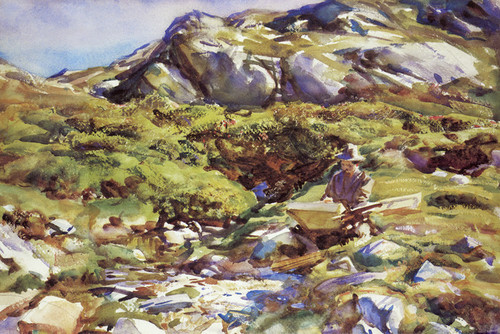Mountain Brook in Simplon Pass by John Singer Sargent | Fine Art Print