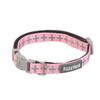 FuzzYard  North Yeezy XS Extra Small Puppy Dog Pink Grey Cross Design Adjustable Collar