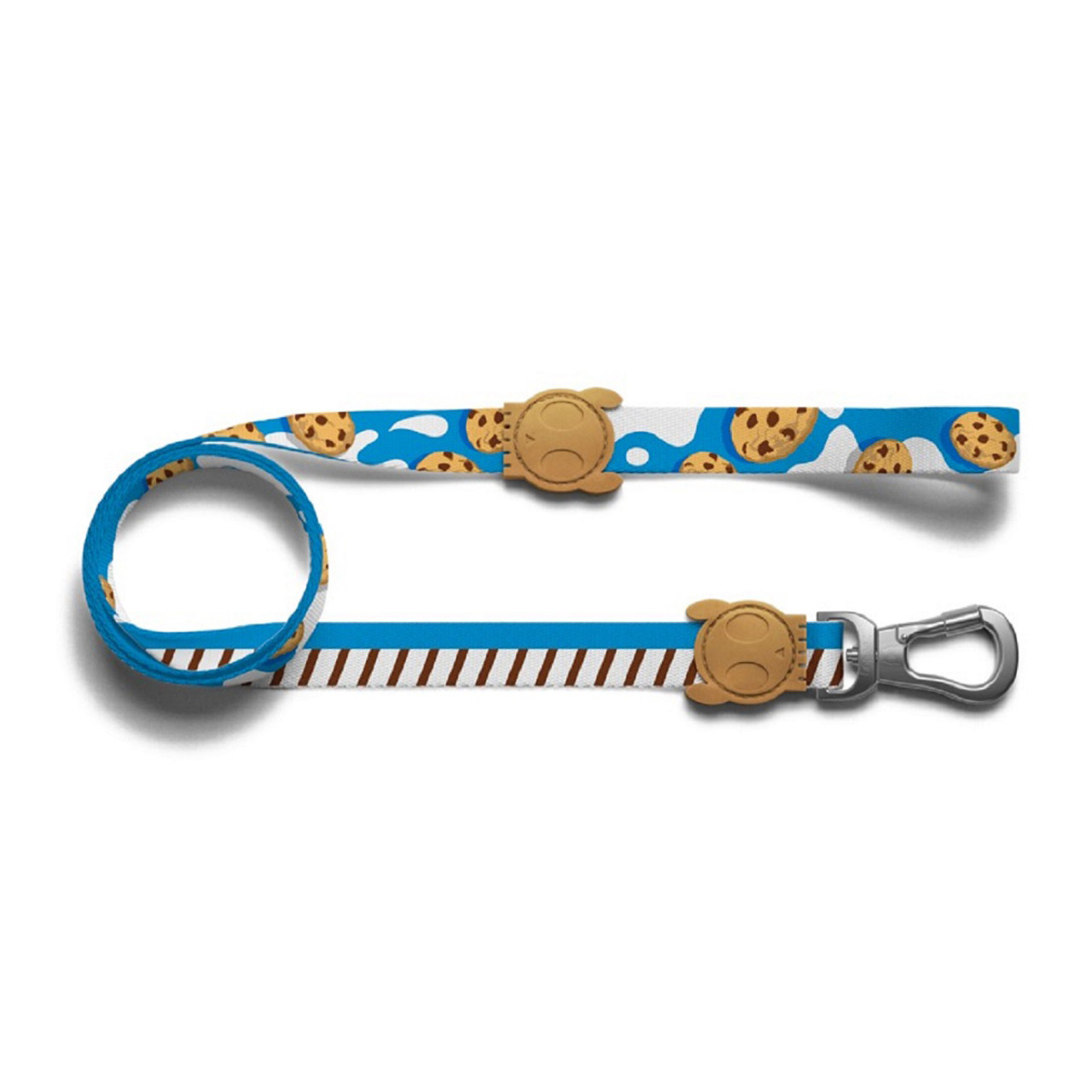 Zee.Dog Milky Milk and cookie blue white power hook dog puppy lead leash