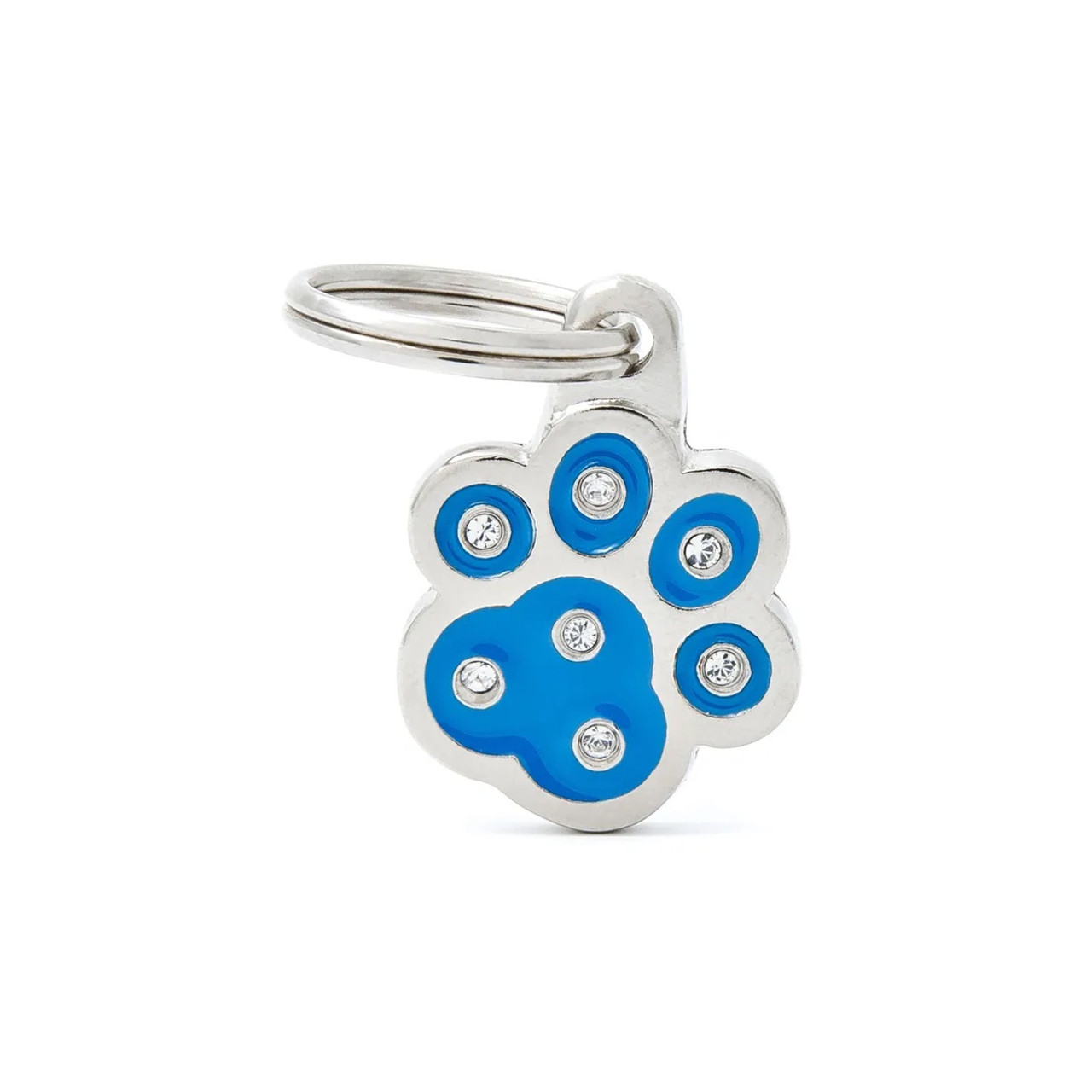 My Family Chic Paw Blue ID Tag