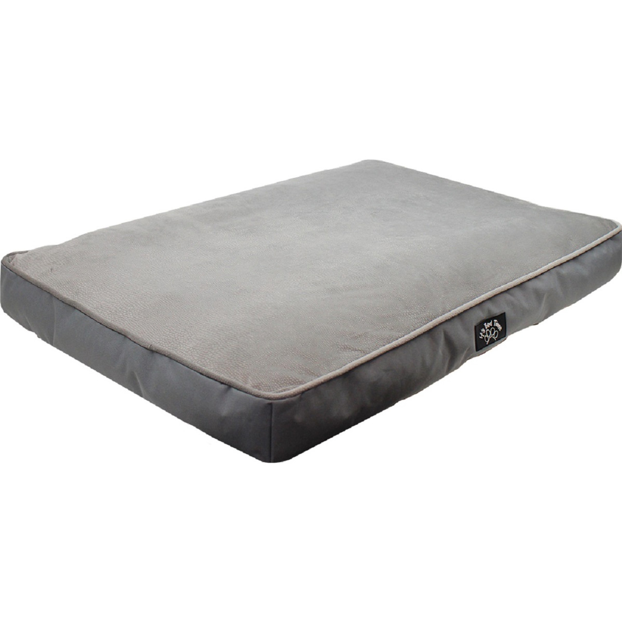 Its Bed Time Cushion Luxury Memory Foam Grey Velvet Bed