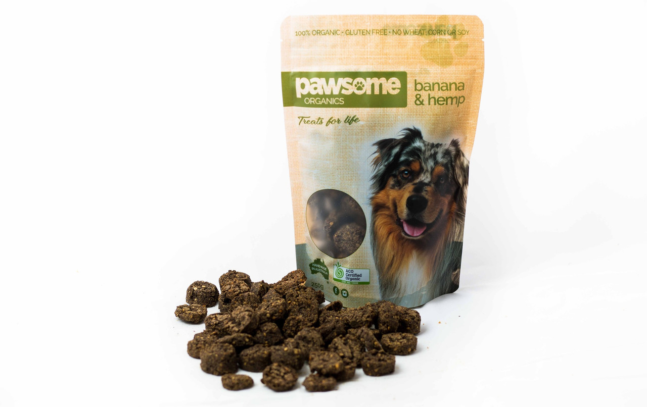 Pawsome Organic Banana Hemp Treats 250g