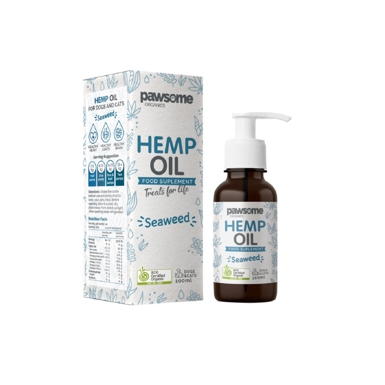 Pawsome Organic Hemp Oil & Seaweed 100ml