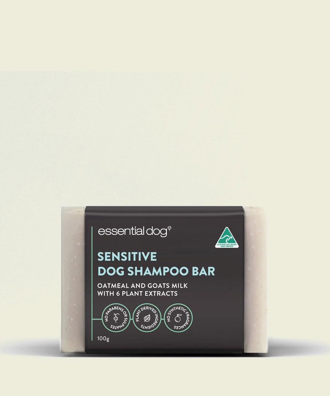 Essential Dog Solid Dog Shampoo Bar (Sensitive): Oatmeal, Lavender & Geranium
