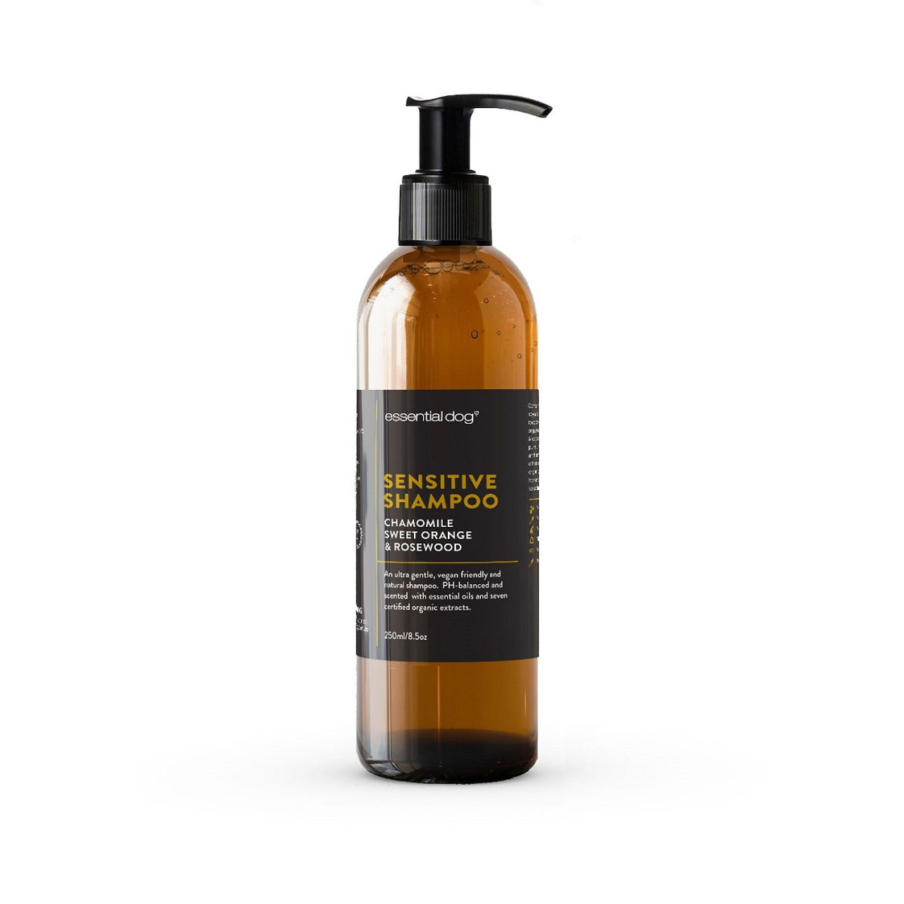 Essential Dog Sensitive Dog Shampoo: Chamomile, Sweet Orange & Rosewood