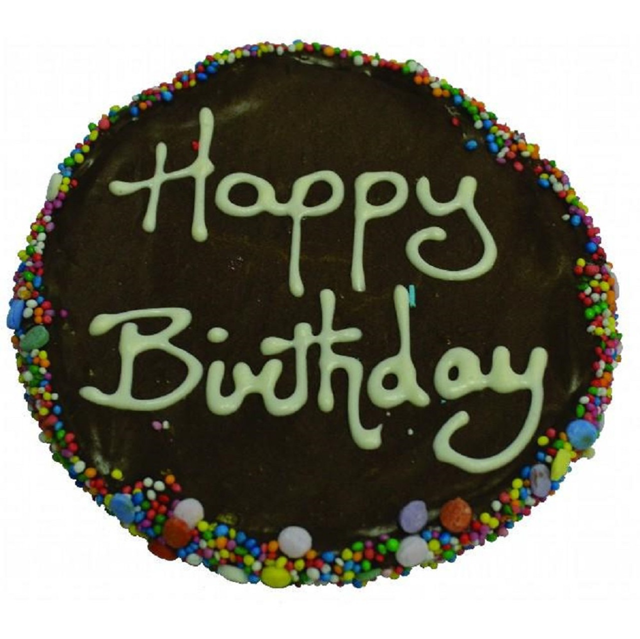 Huds and toke Carob Frosted Birthday Cake 12cm
