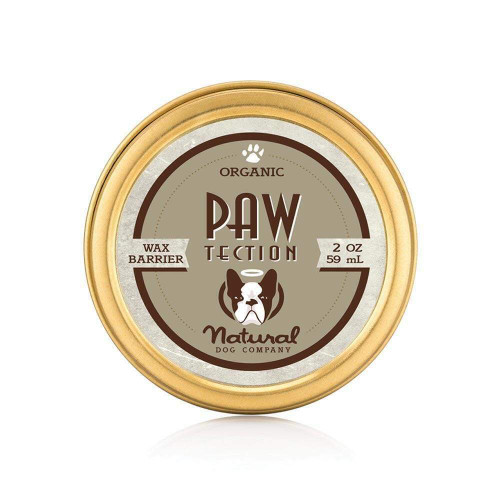 Natural Dog Company PawTector Gold Tin  100% Natural Organic Protection For Dog Paws Wax Barrier Protects From Hot Surfaces