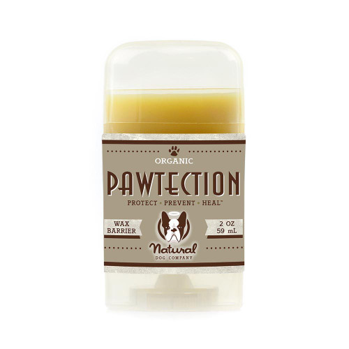 Natural Dog Company PawTector Stick 100% Natural Organic Protection For Dog Paws Wax Barrier  Protects From Hot Surfaces