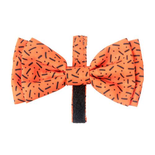 Fuzzyard Safari Orange Design Dog Puppy Collar Bow Tie