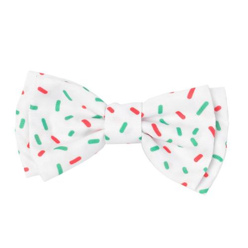 Fuzzyard xmas speckle christmas dog puppy bow tie small