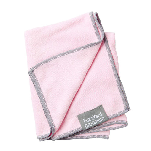 FuzzYard Pink Puppy Micro Fibre Drying Grooming Dog Towel